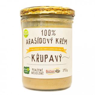 100% Arašídový krém 390 g - křupavý