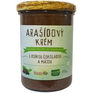 Arašídový krém s hořkou čokoládou a mátou 390 g