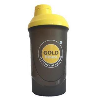 Šejkr Goldfitness černý 600ml.
