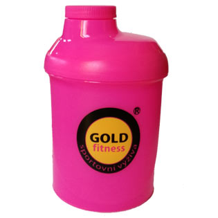 Šejkr Goldfitness růžový 300ml.