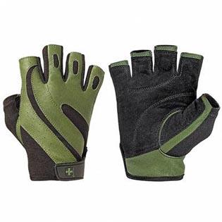 Fitness rukavice 143 PRO  pánské, kožené, bez omotávky - Harbinger