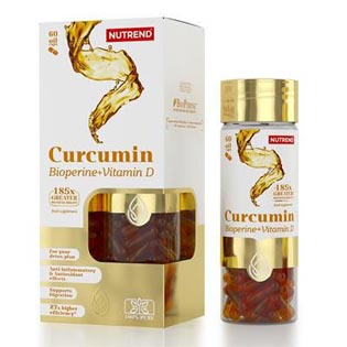 Curcumin + Bioperine + Vitamin D  60 kapslí