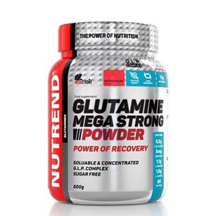 Glutamine Mega Strong Powder - 500g - punč-brusinka