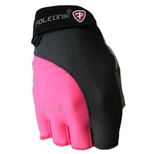 Rukavice Lady Fitness dámské - růžové velikost XS