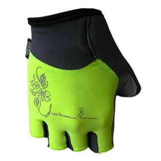 Cyklistické rukavice Chloris dámské - fluo velikost S