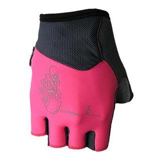 Cyklistické rukavice Chloris dámské - růžové velikost XS