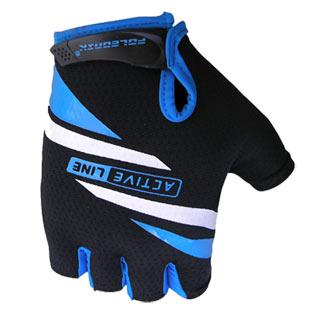 Cyklistické rukavice Active - modré