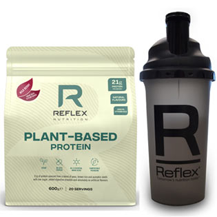 Plant Based Protein 600 g + Šejkr 700 ml ZDARMA
