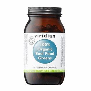 Organic Soul Food Greens 90 kapslí - Viridian