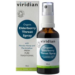 Organic Elderberry Throat Spray 50ml
