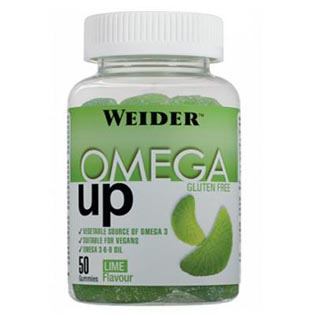 Omega UP želatinové bonbóny 200g - limeta