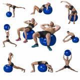 Gymnastický míč TUNTURI 55 cm - modrý