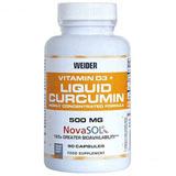 Curcumin Liquid + Vitamin D3  90 kapslí